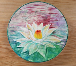 Oxford Valley Lotus Flower Plate